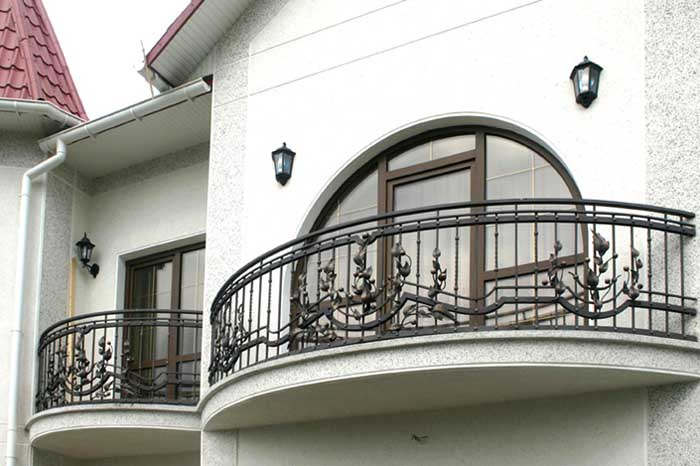 balustrada kuta balkonowa łukowa-min