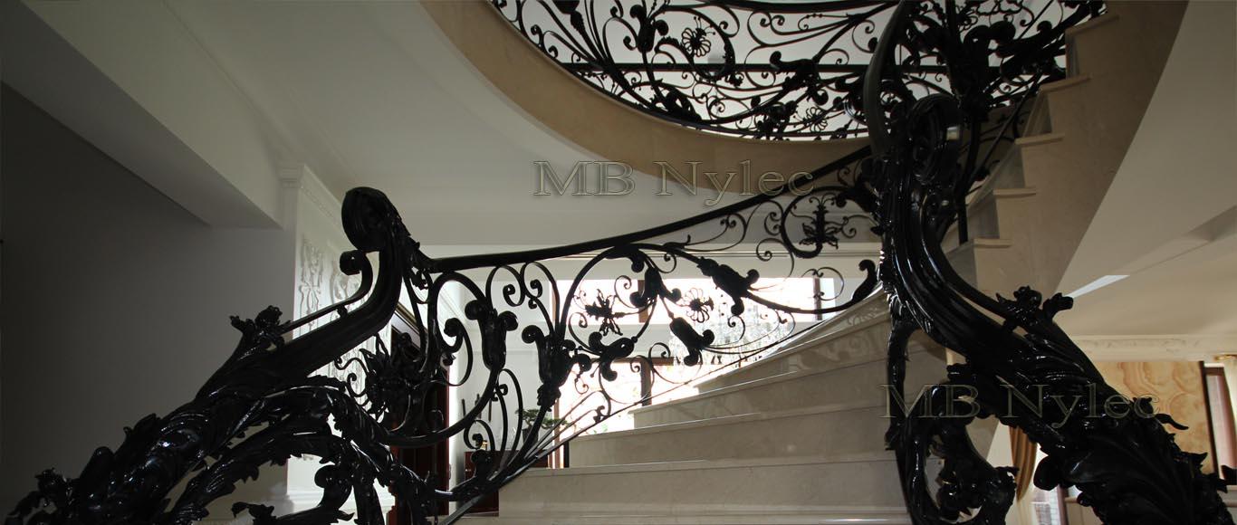 ekskluzywna balustrada kuta - kowalstwo artystyczne MB Nylec