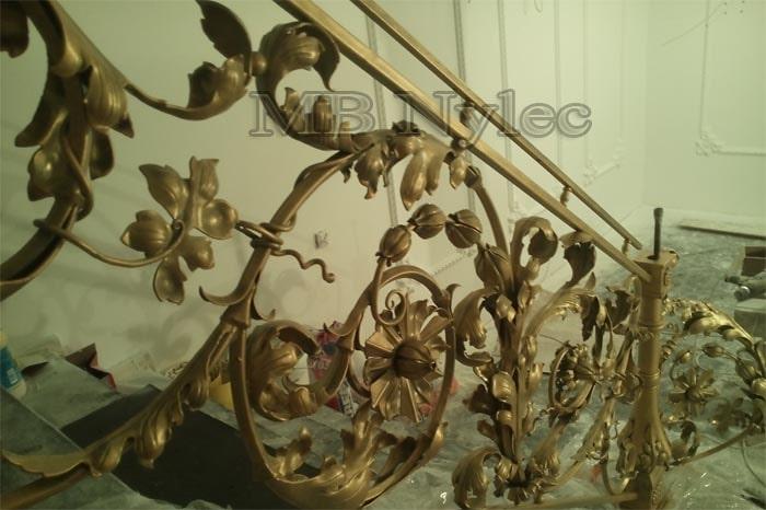 ekskluzywna najwyższej jakości kuta balustrada schodowa MB Nylec