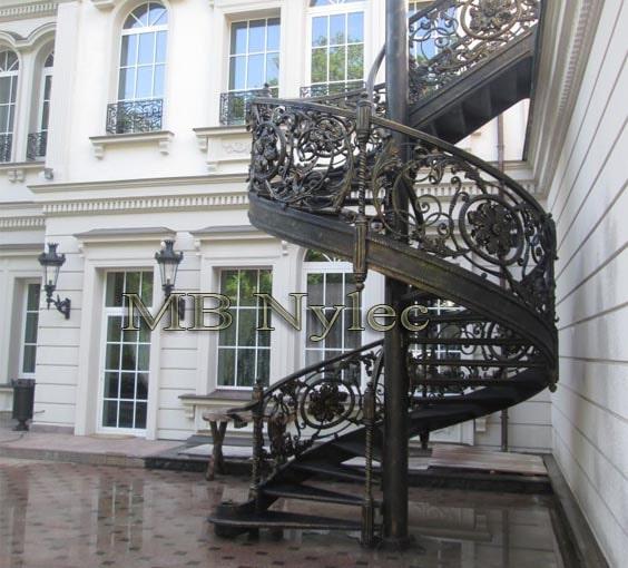 ekskluzywne schody kręcone MB Nylec