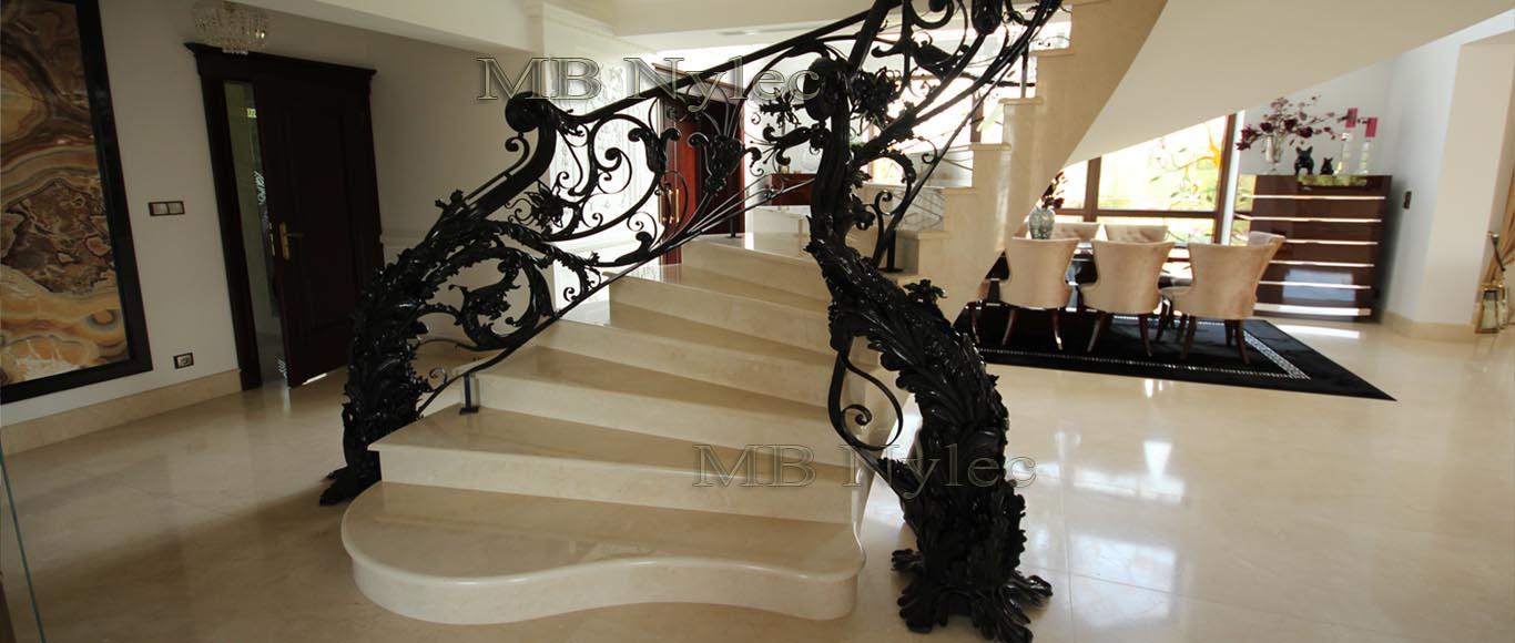 luksusowa balustrada kuta - kowalstwo artystyczne MB Nylec